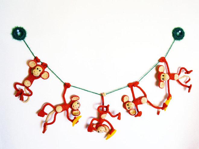 Гирлянда из обезьянок своими руками 75