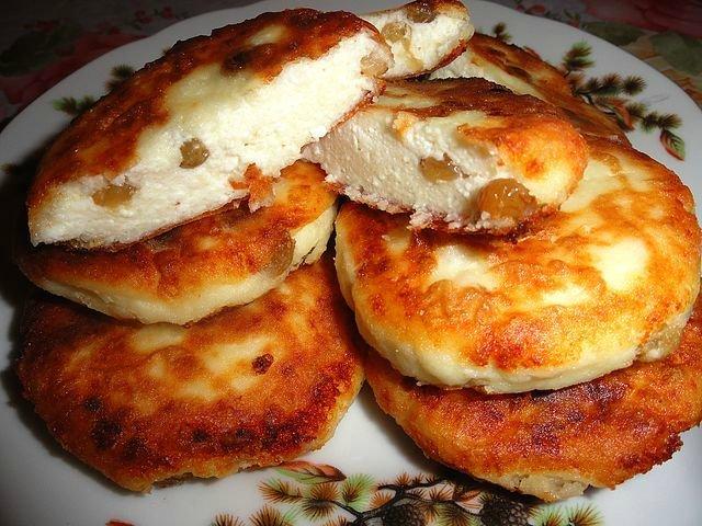 Сырники в духовке из творожной массы с изюмом рецепт пошагово
