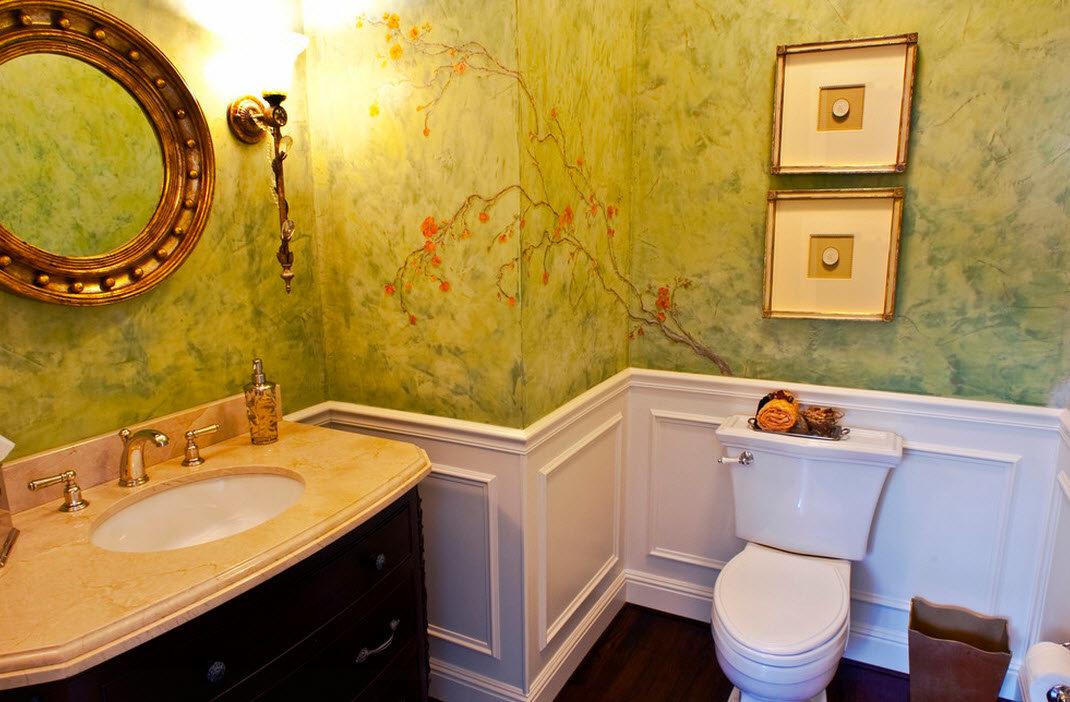 Покраска в ванной комнате в ванной своими руками 100