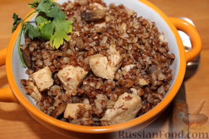 Гречка с мясом и грибами в мультиварке рецепт пошагово