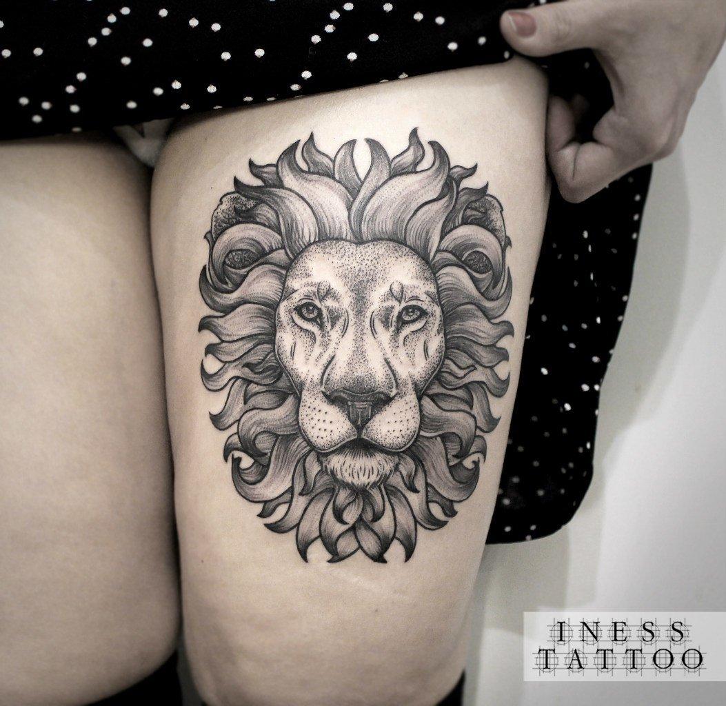 Лев татуировка: значение и фото 71