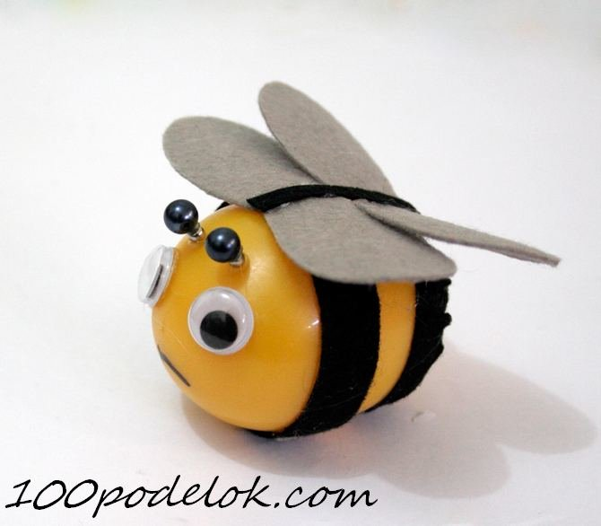 Поделка пчелы из киндер сюрприз 65