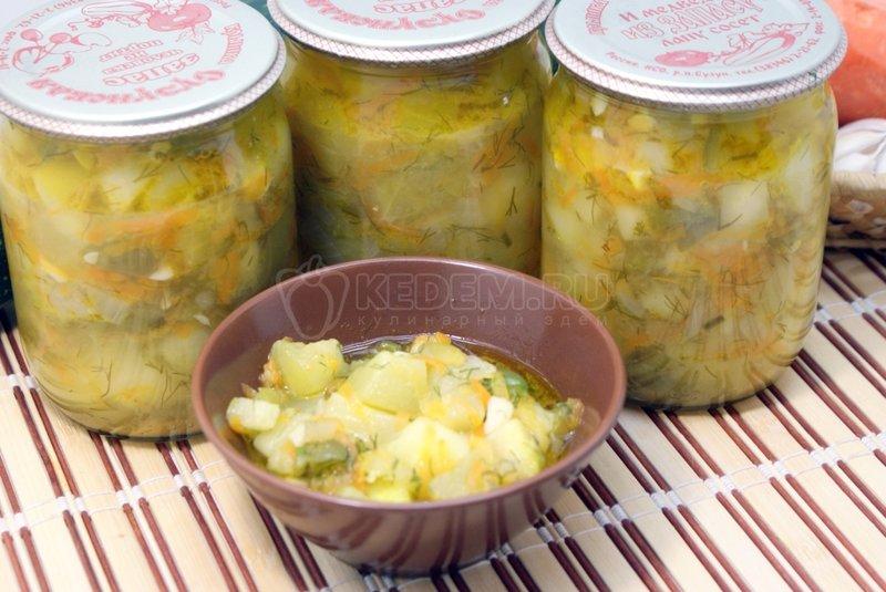 Кабачки тушеные с овощами пошаговый рецепт с картошкой