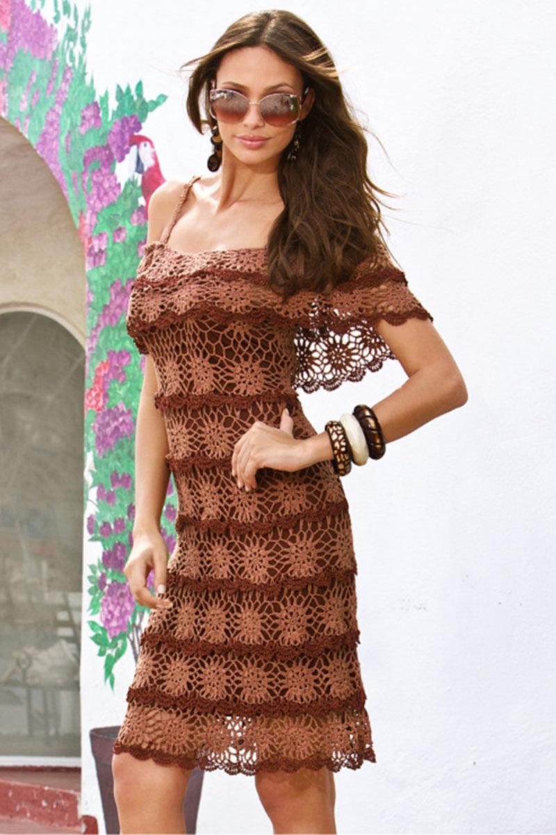 Эксклюзивные платья крючком фото