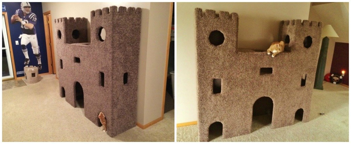 Домик для кошки своими руками фото из картона своими руками 9