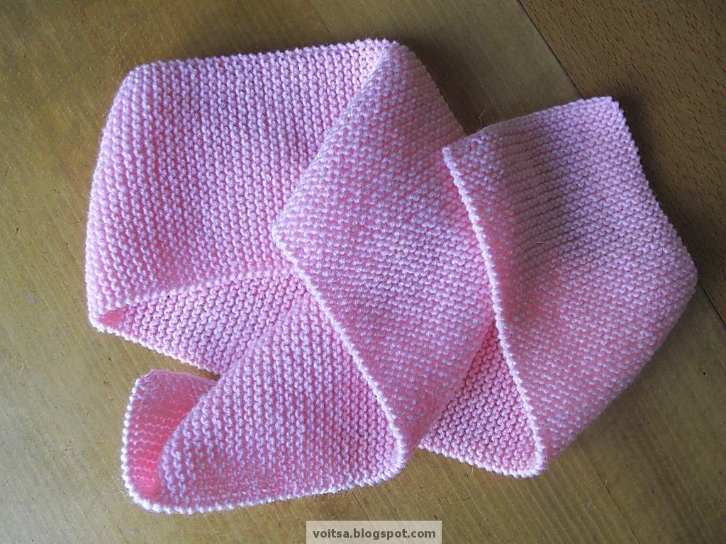 Вязание на спицах шарф детский 855