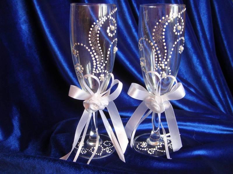 Свадебный бокалы своими руками картинки