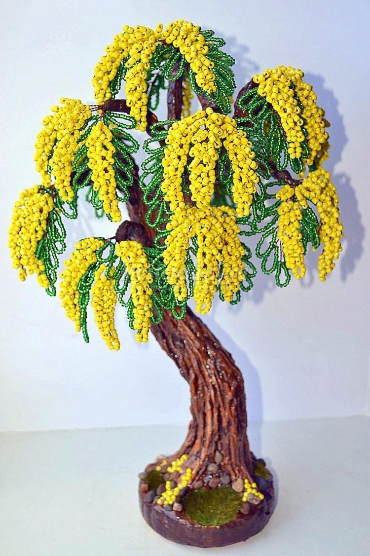 Деревья из бисера. пошаговое