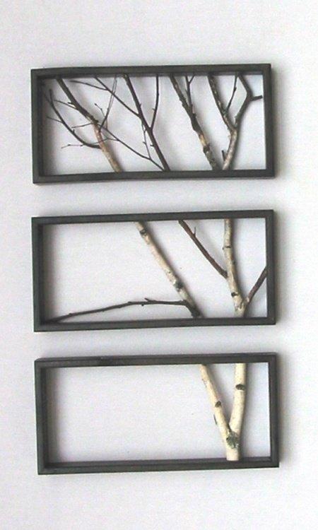 Ветки дерева в рамке своими руками