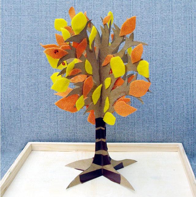Дерево из бумаги своими руками для детей из руки 945