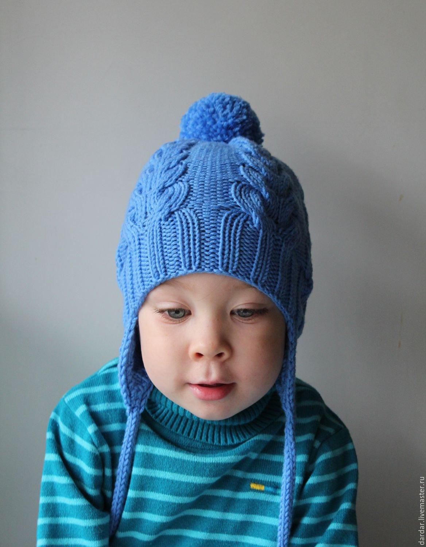 Детские шапочки, шарфики и береты спицами или крючком с 66