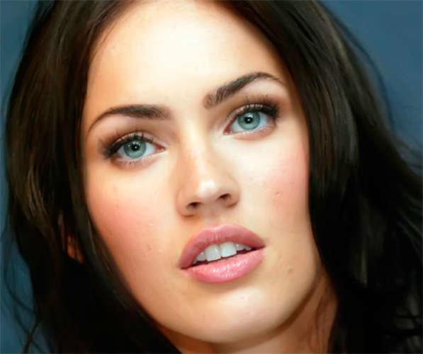 Макияж глаз для брюнетки с серо-зелеными глазами