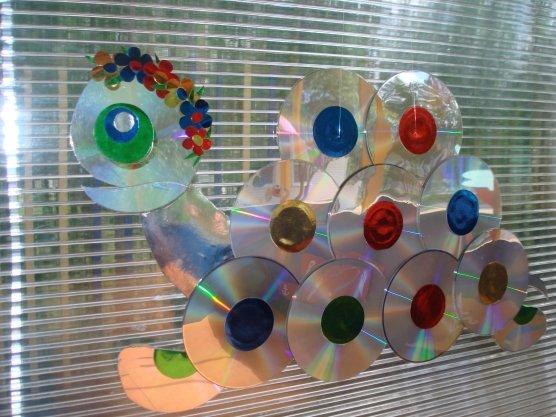 Поделки из дисков в садике 49