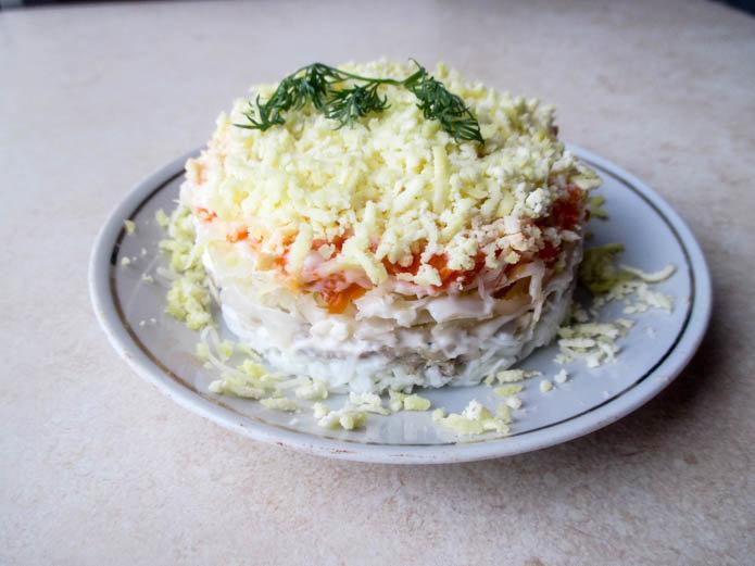 Салат мимоза рецепт с рисом и картошкой рецепт