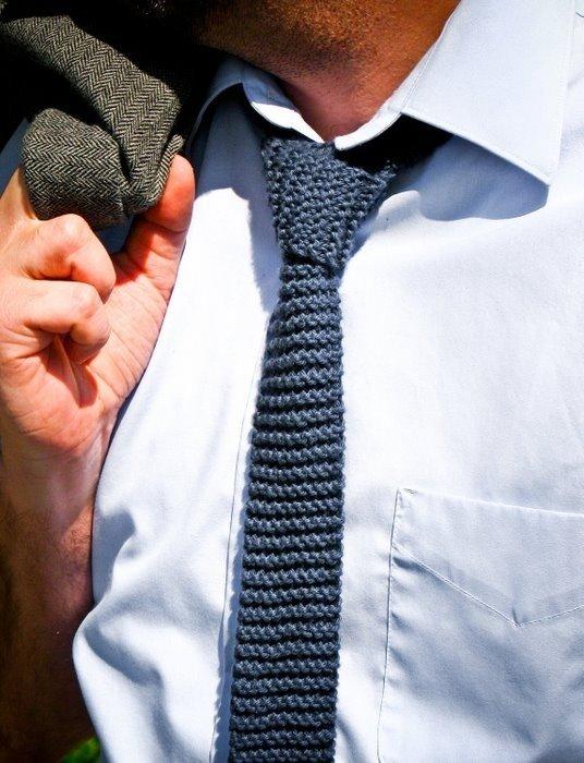 Вязаный галстук своими руками 1