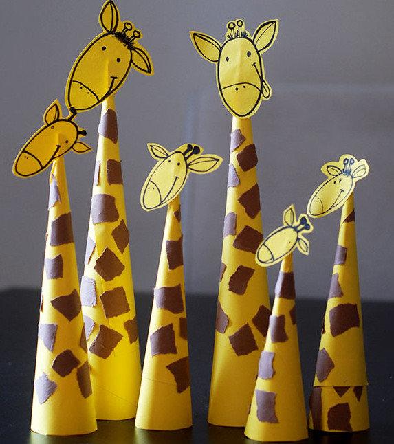 Жираф из бумаги своими руками для детей шаблоны 41