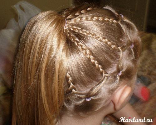 Прически для девочек на средние редкие волосы