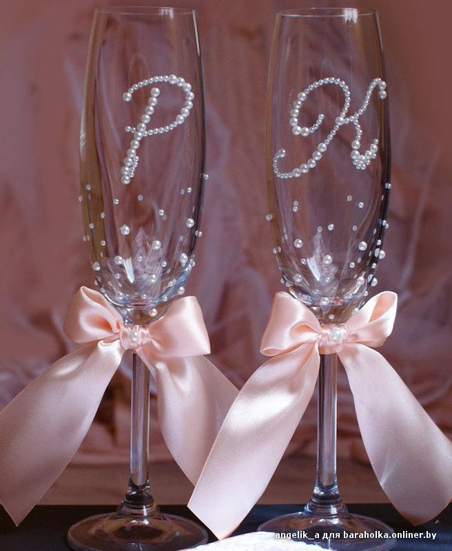 Фужеры на свадьбы своими руками