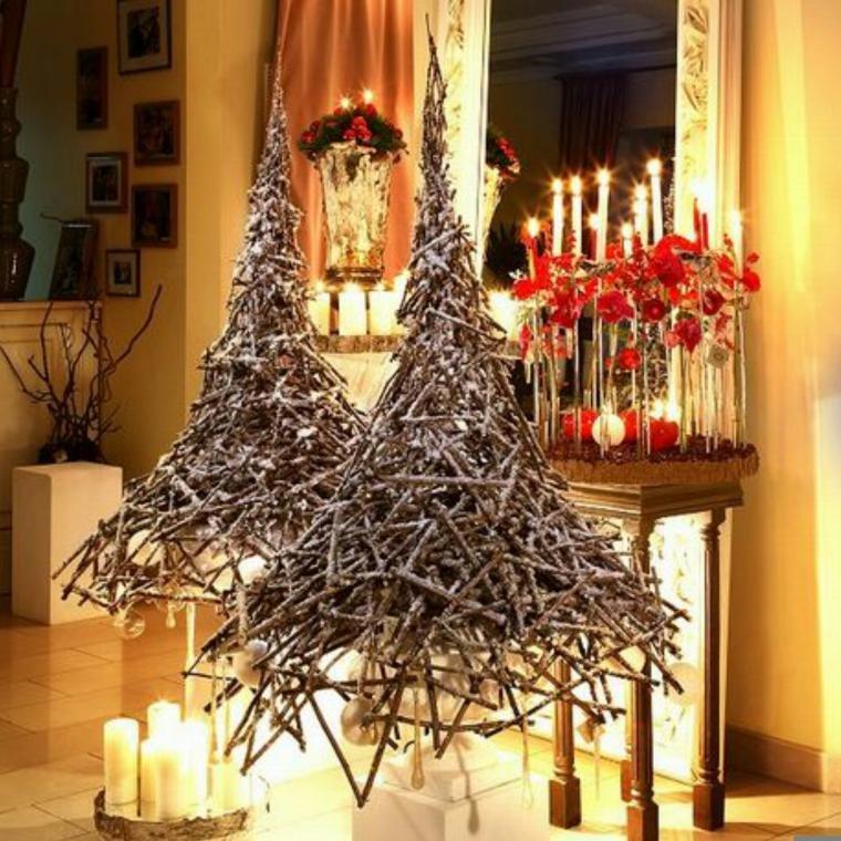 Интерьерные новогодние елки своими руками
