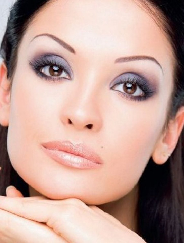 Фото легкого вечернего макияжа