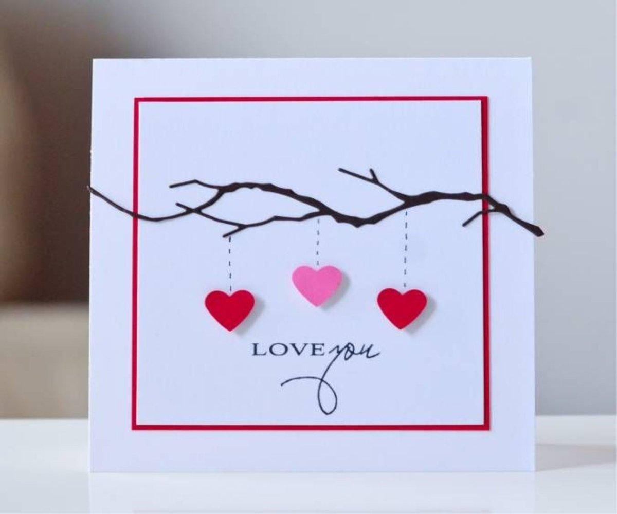 Своими руками простая открытка на день святого валентина