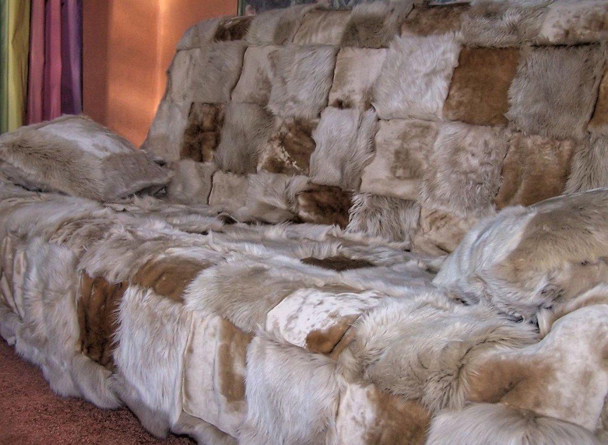 Подушки меховые на диван своими руками