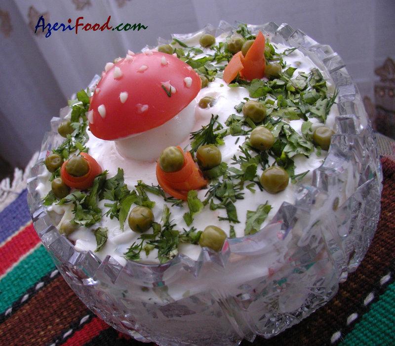 Новые салаты на день рождения и рецептами