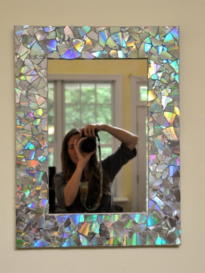 Идея для декора зеркала своими руками 48