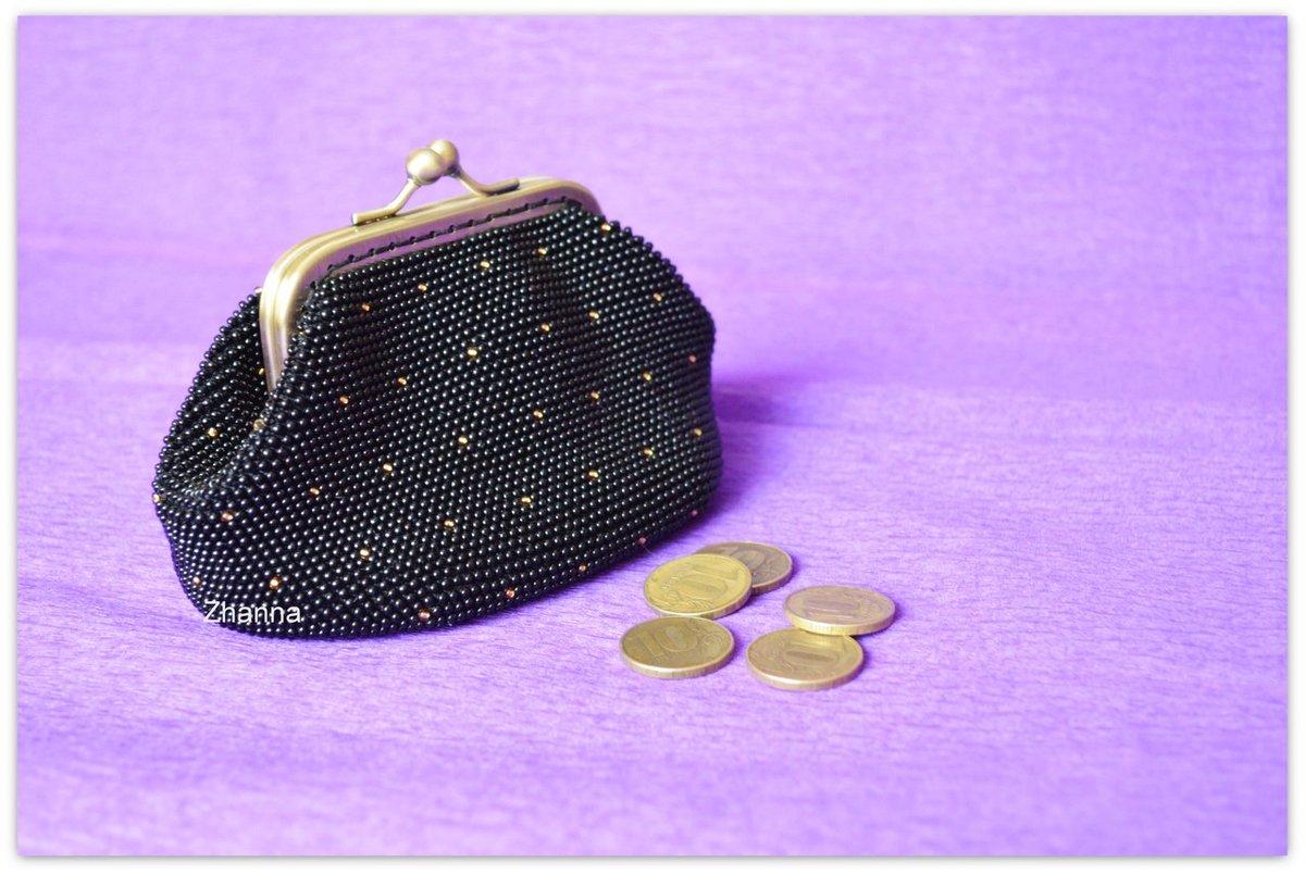 Вязание бисером кошелек с фермуаром 40