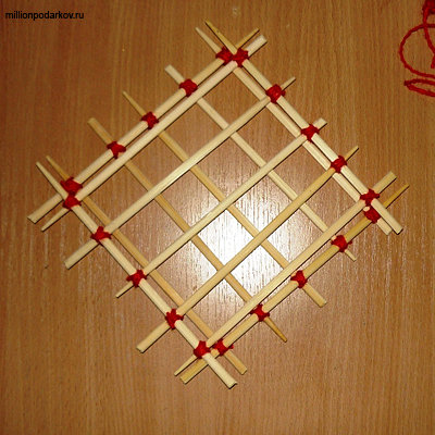 Детские поделки из китайских палочек 5