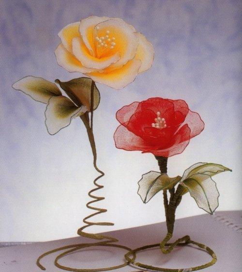 Мастер класс по изготовлению цветов из проволоки капрона