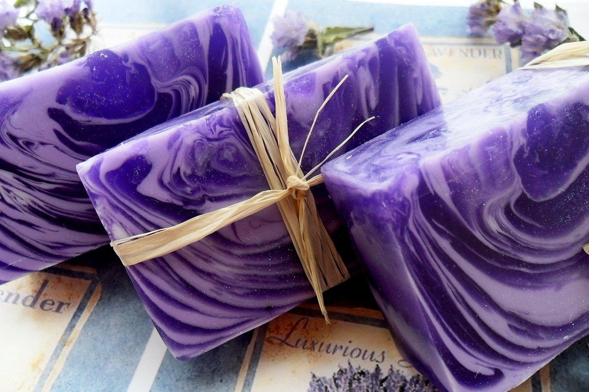 Лавандовое мыло ручной работы рецепт - Подарок на День 49