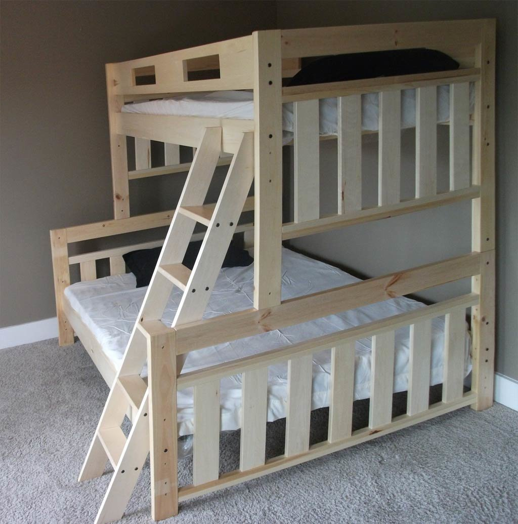 Проект двухъярусной кровати своими руками из дерева