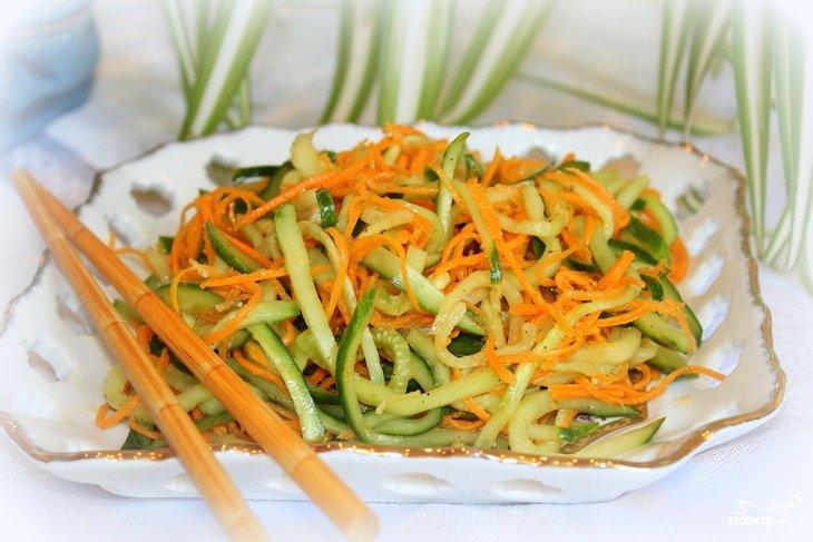 Кабачки и морковь по корейски рецепт