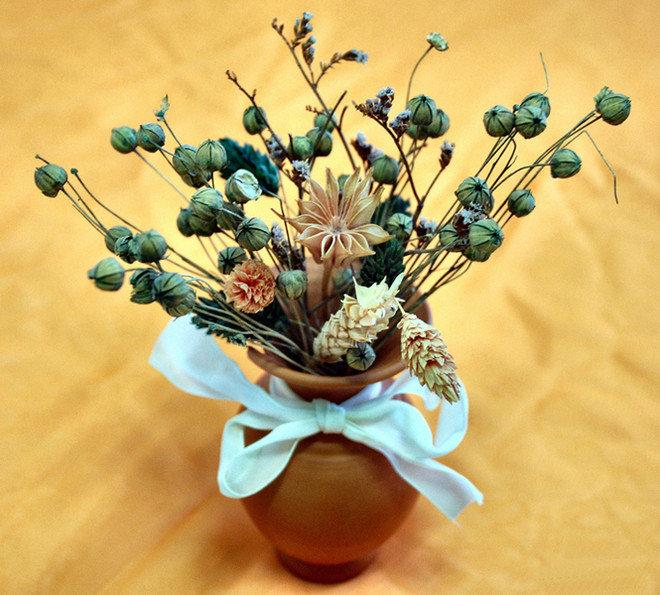 Как сделать букет из сухих цветов