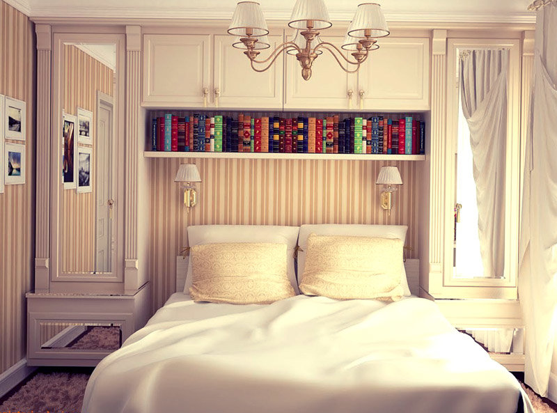 Спальня очень маленькая дизайн