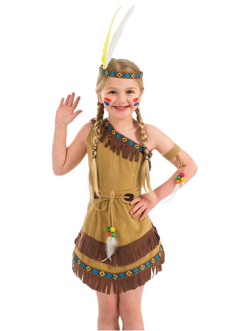Костюм индейской девушки своими руками из подручных материалов