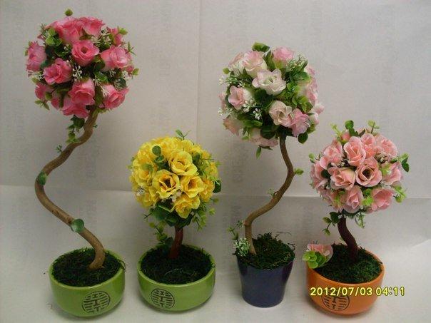 Как сделать искусственные деревья и цветы своими руками