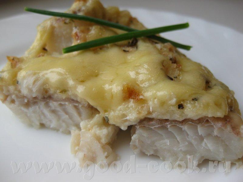 Минтай в духовке с сыром рецепт пошагово