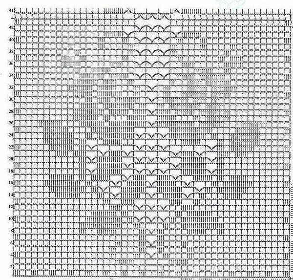 Филейное вязание крючком розы для топа платья кофты схемы 56