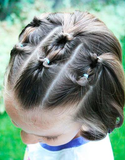 Как сделать из коротких волос прическу девочке на