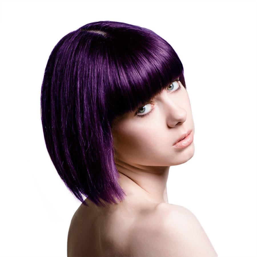 Фото причесок с фиолетовыми волосами