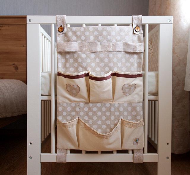 Как сшить органайзер на детскую кроватку мастер класс