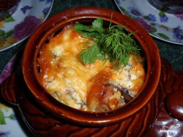 свинина в горшочках со сметаной в духовке рецепт