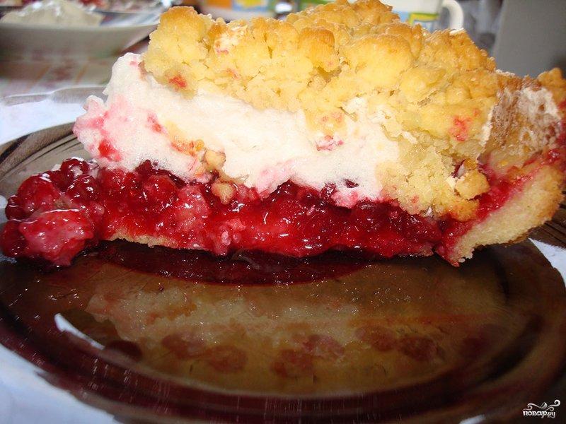 Рецепт пирог с брусникой рецепт пошагово в духовке