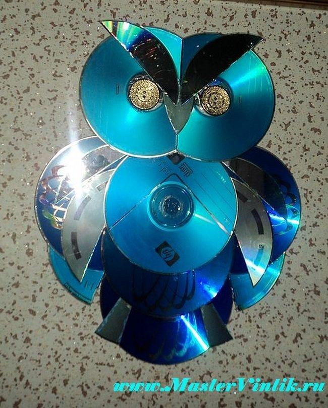 Поделки из дисков своими руками мастер класс видео 65