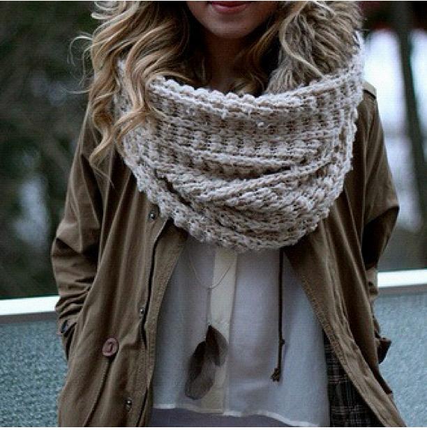 Как сделать шарф цельный