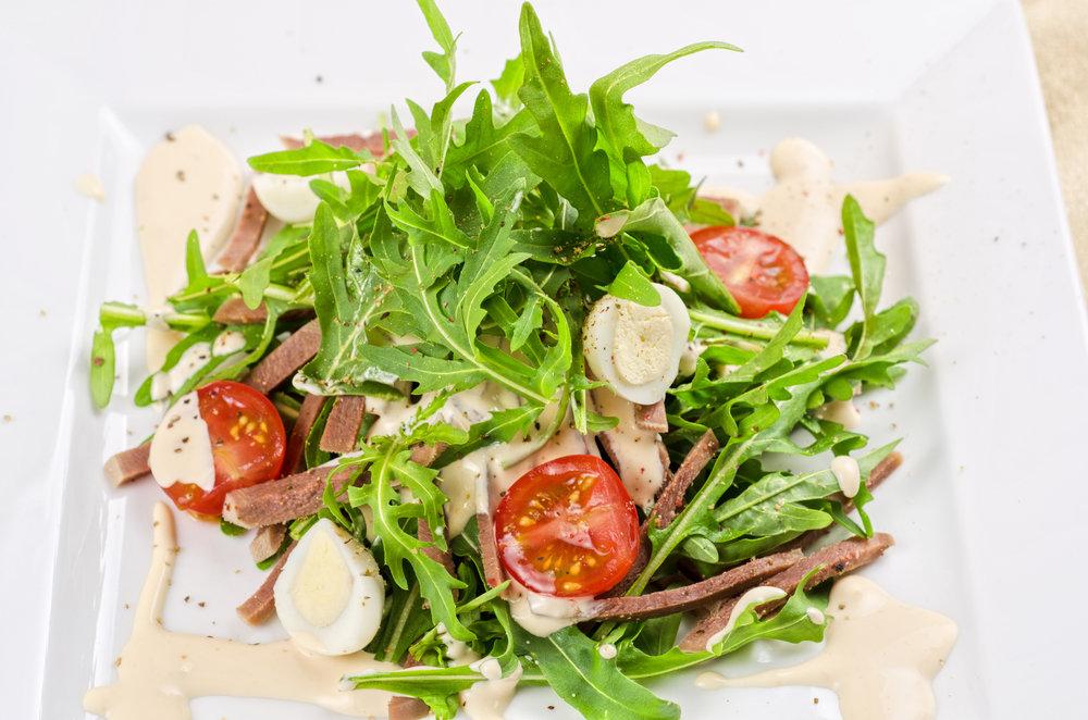 Салат с языком и помидорами рецепт с
