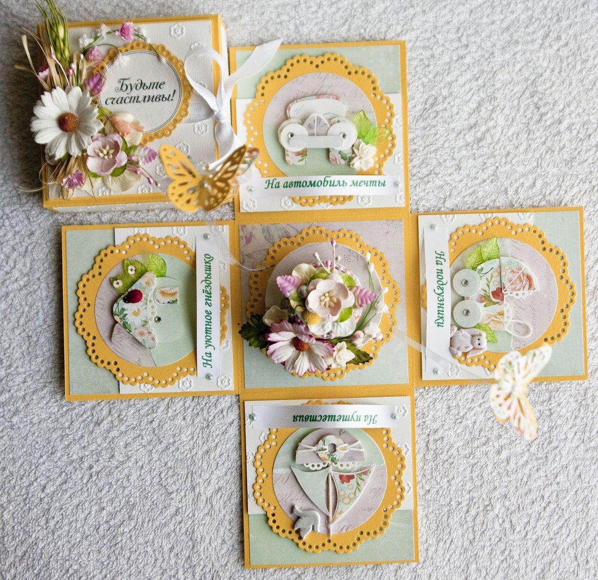 Коробка открытка своими руками на свадьбу 59