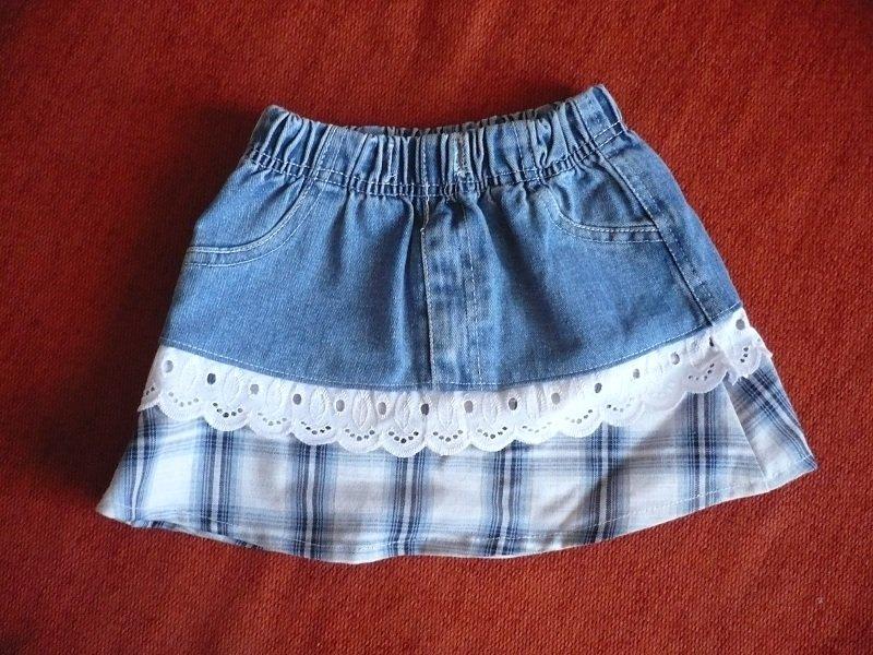 Юбки для девочек из старых джинсов сшить 872